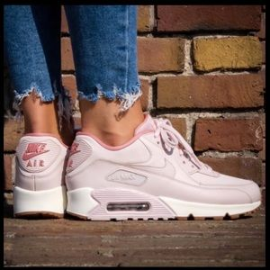 Nike Air Max 90 Pink and Beige Sneakers Size 7.5